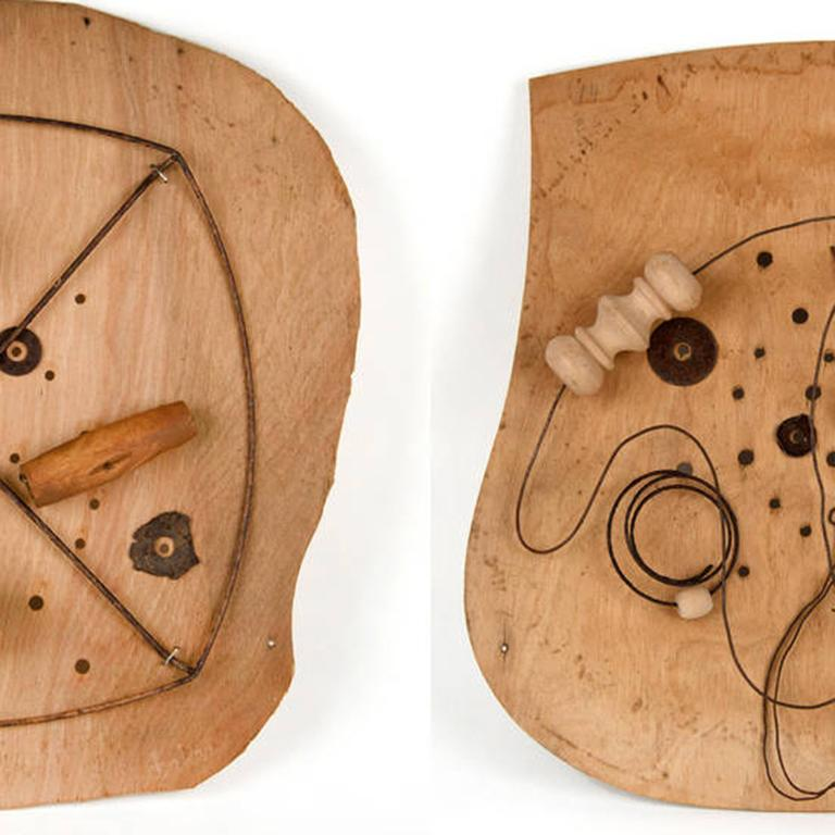 Child's Play (I and II) - Brown Abstract Sculpture by Dianne Baker