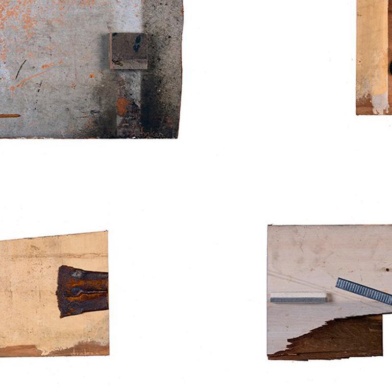 Quartet - Brown Abstract Sculpture by Dianne Baker