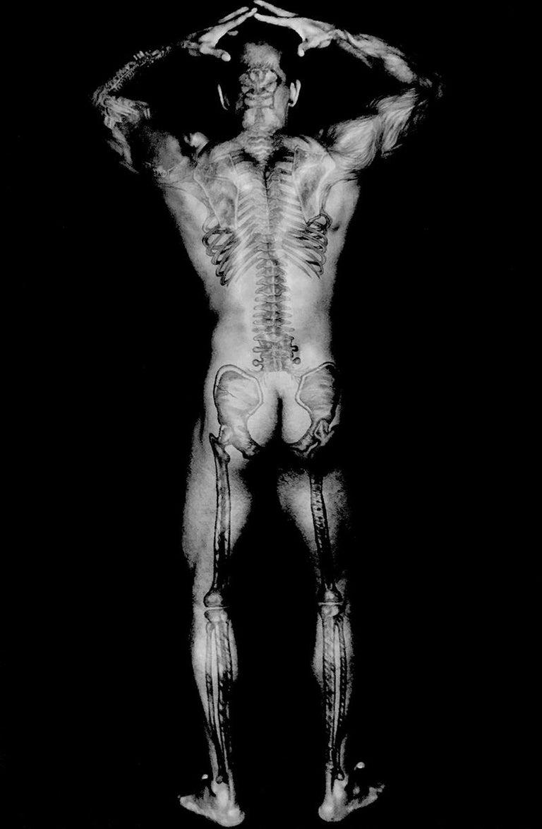 Dianora Niccolini Black and White Photograph - Ronaldo's Skeletal Tattoo Back