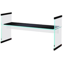 Diapositive Bench with Black Cushion by Ronan and Erwan Bouroullec, Glas Italia