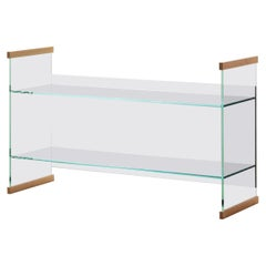 Diapositive Bookshelf in Extra Clear by R. & E. Bouroullec from Glas Italia