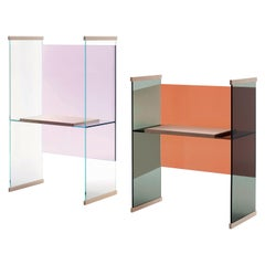 Diapositive High Desk in Lilac Back, by Ronan & Erwan Bouroullec for Glas Italia