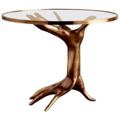 Dichotomy Cast Bronze Hands Sculptural Table by Kelly Wearstler