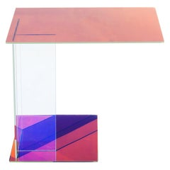 Dichroic Glass Side Table, Rona Koblenz