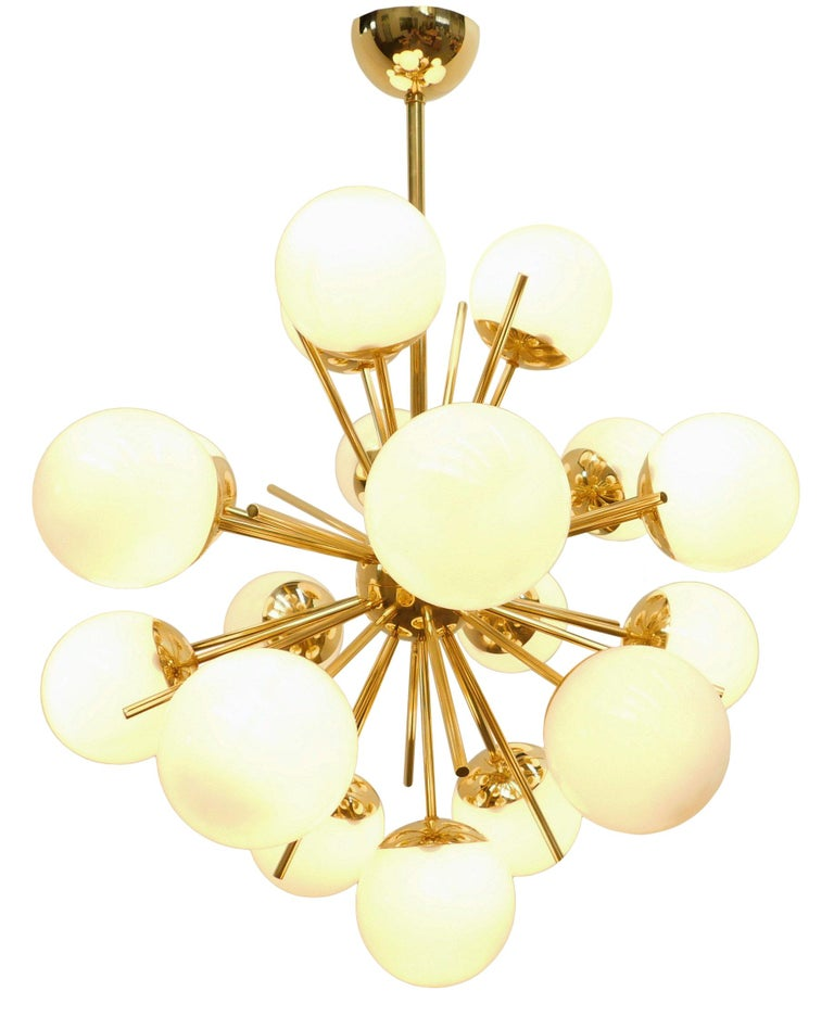 Modern Diciotto Sputnik Chandelier For Sale
