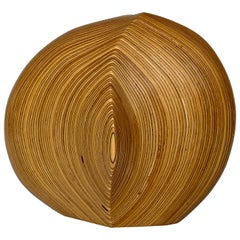 Dick Shanley Carved Laminated Wood Sculptural Vessel