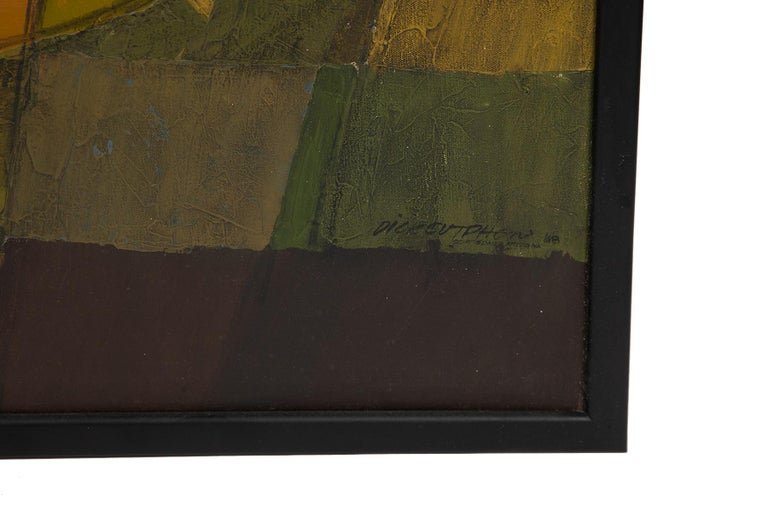 Mid-Century Modern Dick Sutphen Oil Painting, 1968 For Sale