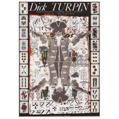 """""""Dick Turpin"""" 1977 Czech A3 Film Poster"""