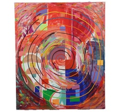 Geometric Abstract Spiral Painting