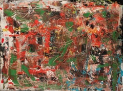 """""""Untitled,"""" Oil, Mixed Media on Canvas - Abstract painting"""