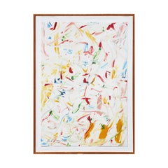 Red, Blue, Yellow, & Green Toned Colorful Modern Abstract Expressionist Monotype
