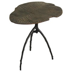 Dickinsonia Low Table in Bronze Black Color Middle size