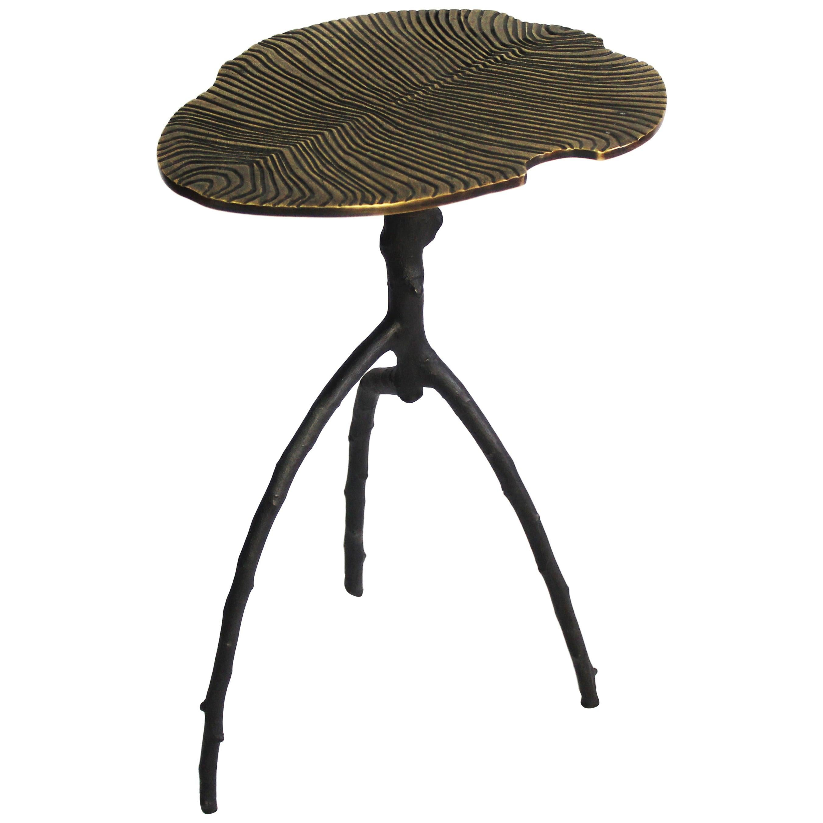 Dickinsonia Low Table in Bronze Black Color Small Size
