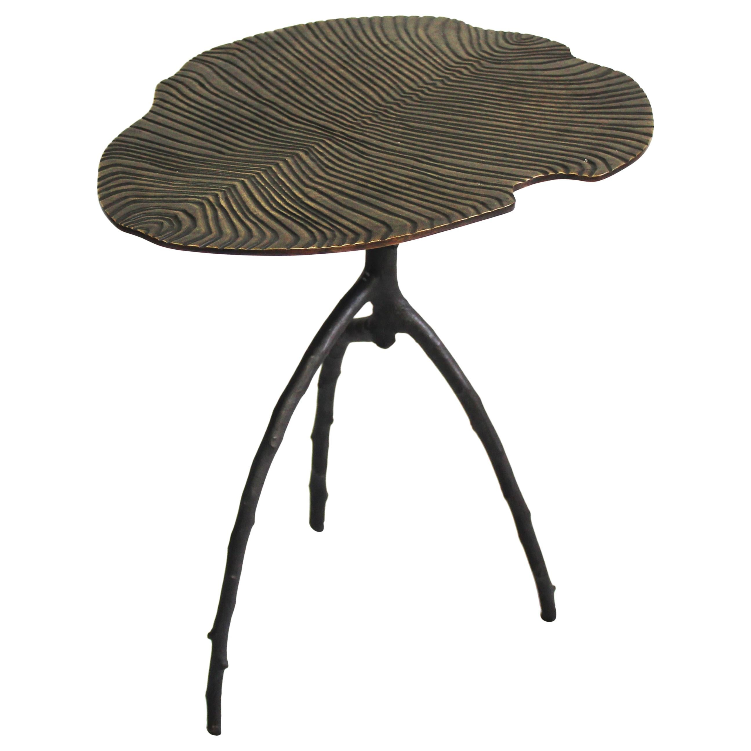Dickinsonia Low Table in Bronze Copper Color