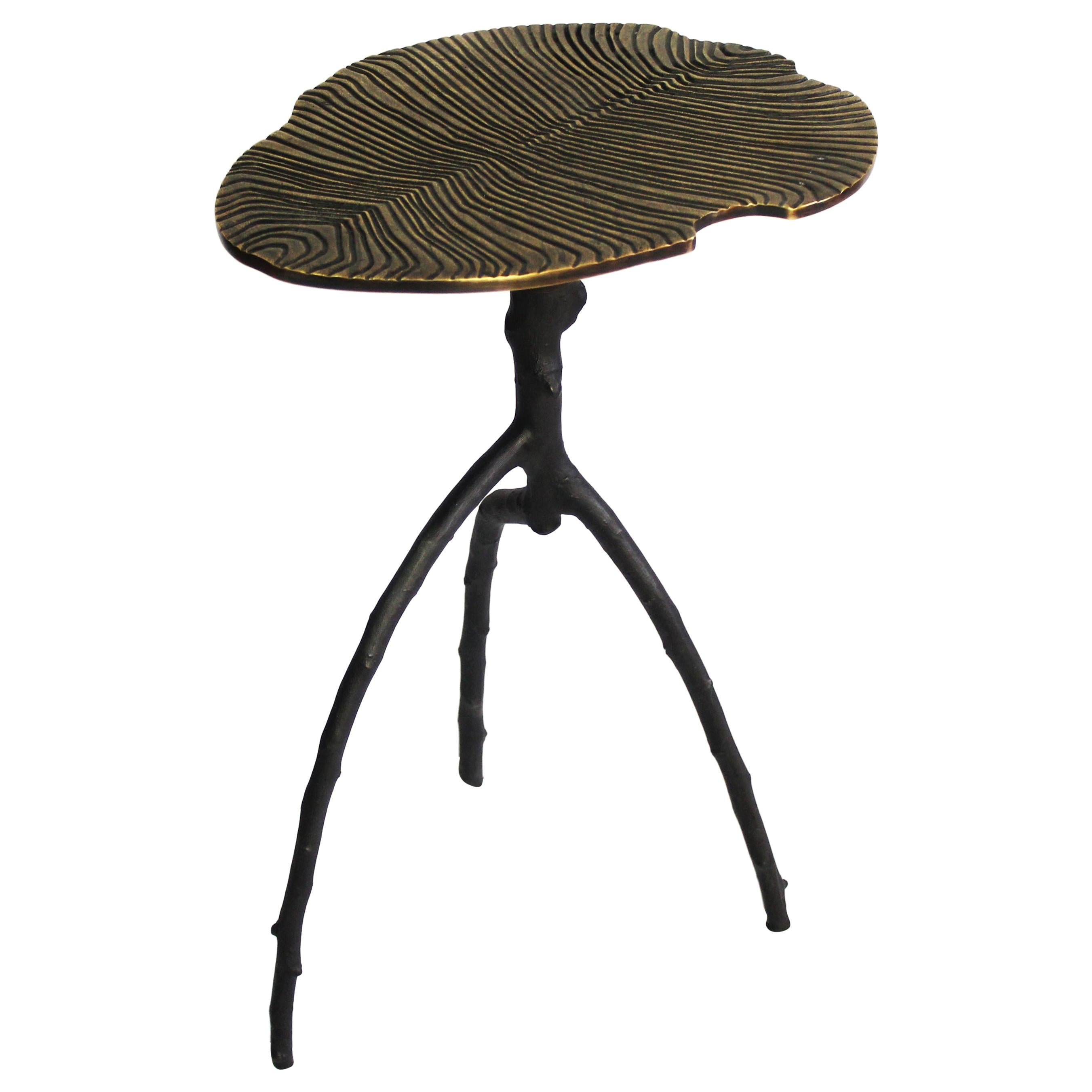 Dickinsonia Low Table in Bronze Gold Color in Stock