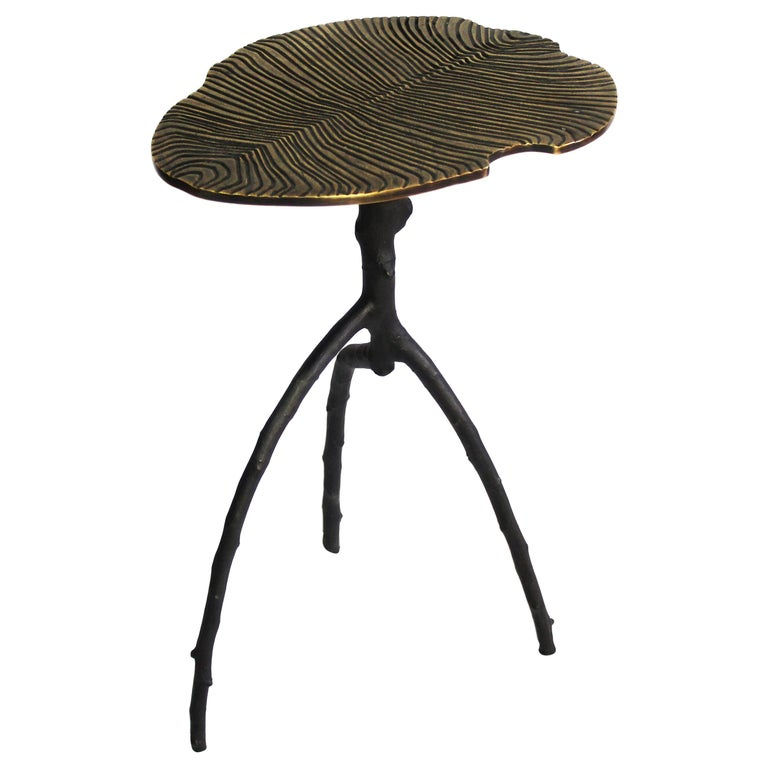 Dickinsonia Low Table in Bronze Gold Color in Stock For Sale