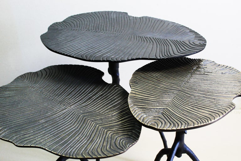 From those three side tables, 560 millions of years are contemplating us. Done in Bronze by a
