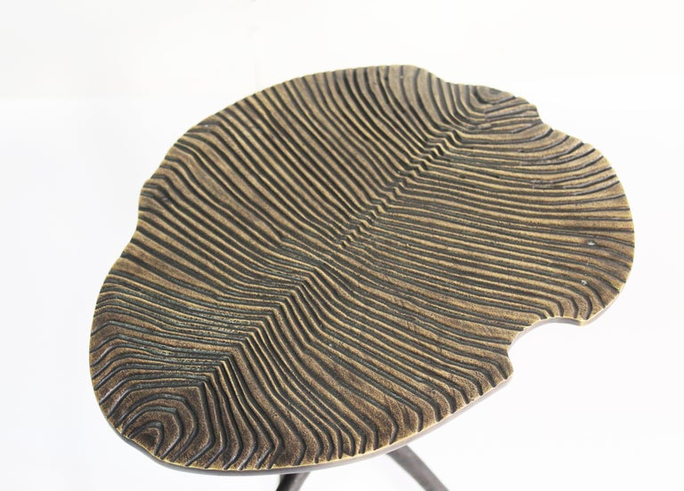 Cast Handmade Dickinsonia Stacking Tables Triptych in Bronze in Stock