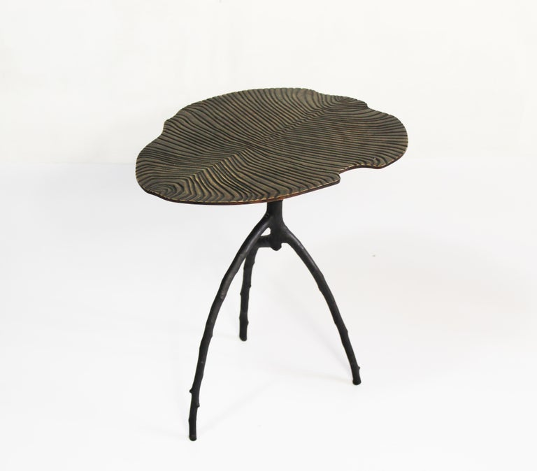 Handmade Dickinsonia Stacking Tables Triptych in Bronze in Stock 1