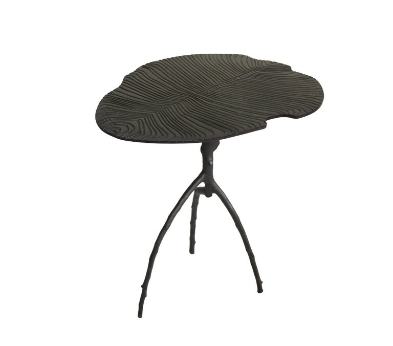 Handmade Dickinsonia Stacking Tables Triptych in Bronze in Stock 2