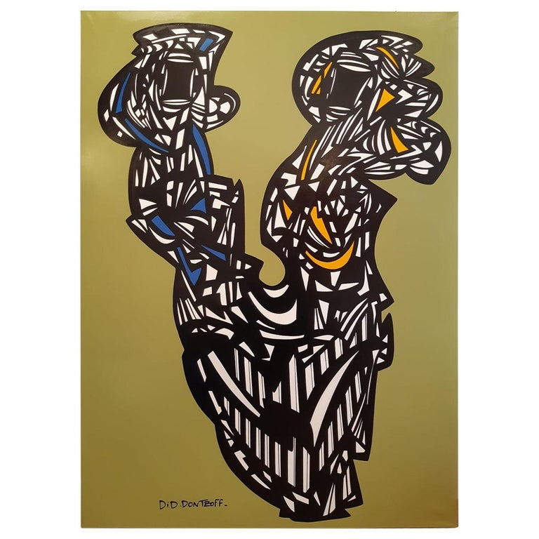 Did Dontzoff Acrylic on Canvas Abstract Painting For Sale