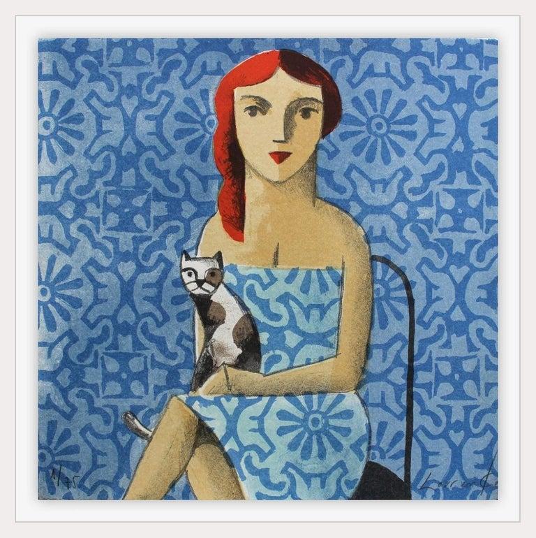 Azul - Original Lithograph by Spanish Artist Didier Lourenço - Contemporary Print by Didier Lourenço