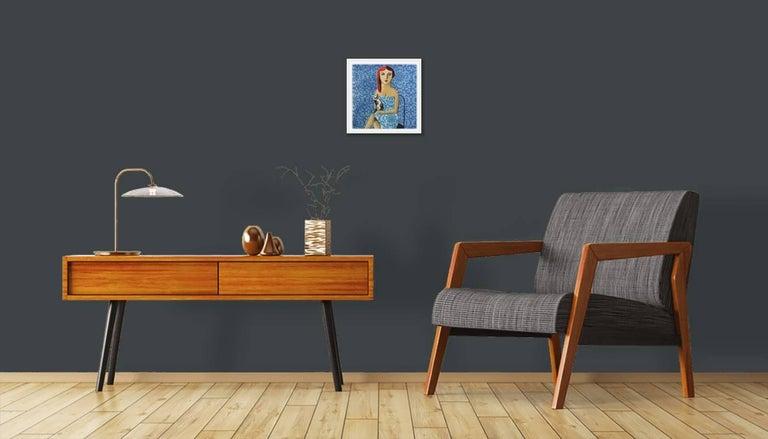 Azul - Original Lithograph by Spanish Artist Didier Lourenço For Sale 1