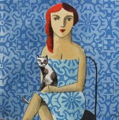 Azul - Original Lithograph by Spanish Artist Didier Lourenço