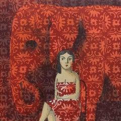 Big Red - Original Lithograph by Spanish Artist Didier Lourenço