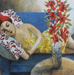 Rêve - Original Lithograph by Spanish Artist Didier Lourenço