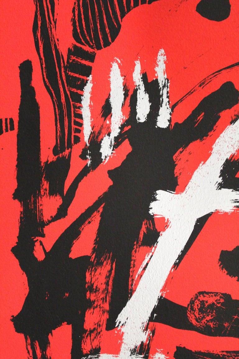 La menona (Mexican contemporary art) - Red Abstract Print by Didier Mayés