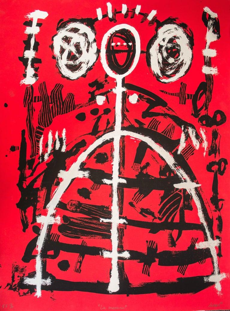Didier Mayés Abstract Print - La menona (Mexican contemporary art)