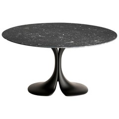 Didymos Round Table with Black Marble Top by Antonia Astori for Driade