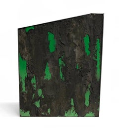 """Ajusco"" by Diego Anaya, green concrete sculptural art piece - 1stdibs New York"
