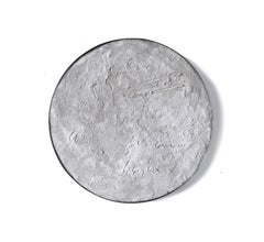 """Luna"" by Diego Anaya - white tondo wall piece"