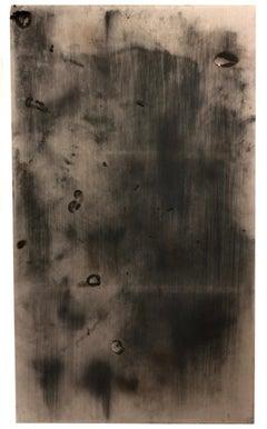"""Revolución"": minimalistic abstract black painting"