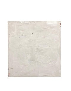 """Untitled white"" by Diego Anaya - minimal white textured painting"