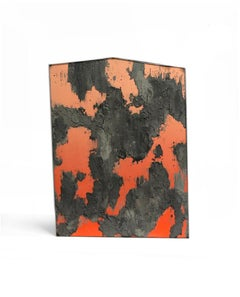 """Uxmal"" by Diego Anaya, orange concrete sculptural art piece - 1stdibs New York"