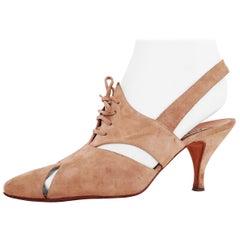 Diego Della Valle x Alaïa - Khaki Suede Heels - Size 40 (EU)
