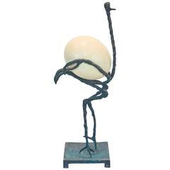 """Diego Giacometti """"L' Autruche"""" Bronze Sculpture"""