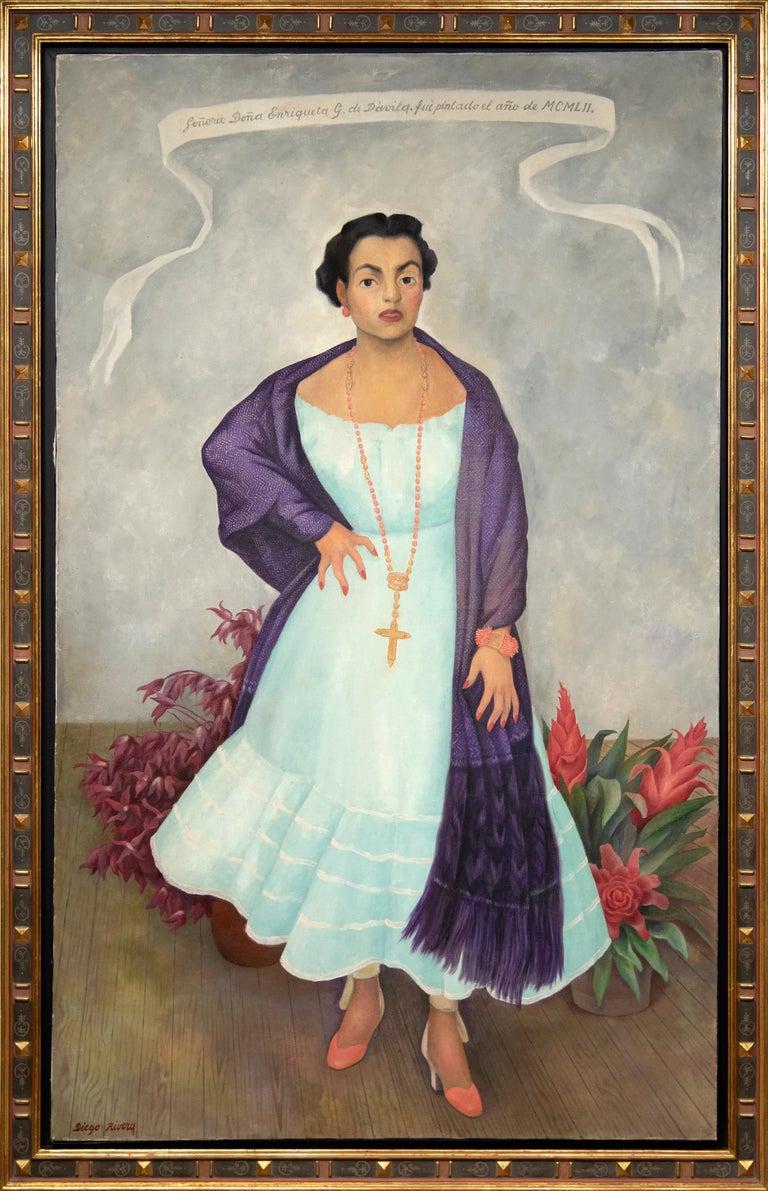 Portrait of Enriqueta G. Dávila - Painting by Diego Rivera