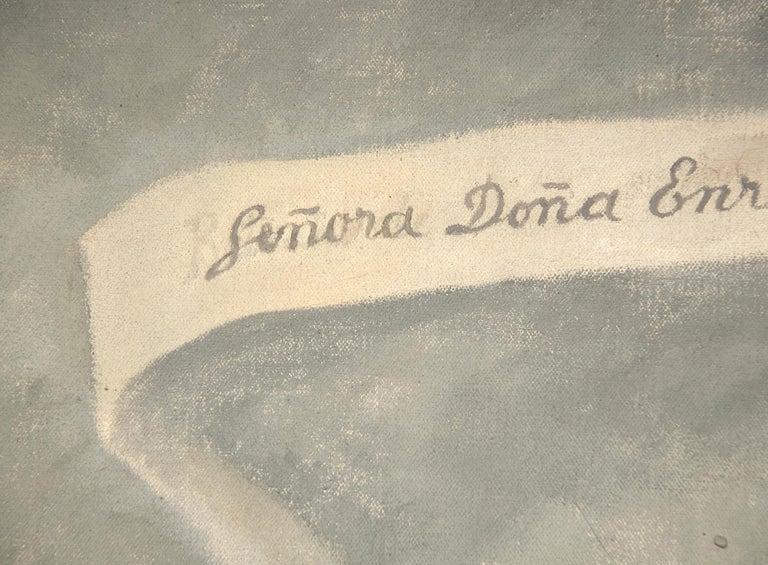 Portrait of Enriqueta G. Dávila For Sale 2