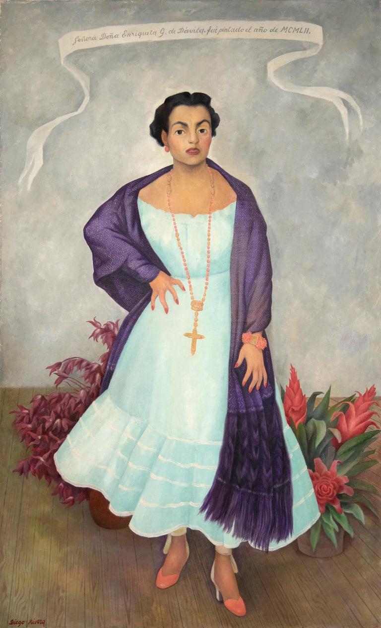 Diego Rivera Portrait Painting - Portrait of Enriqueta G. Dávila