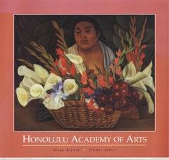 1992 Diego Rivera 'Flower Seller' Modernism USA Offset Lithograph