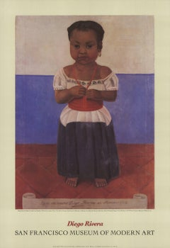 1992 After Diego Rivera 'Indian Girl with Coral Necklace' Modernism USA Offset