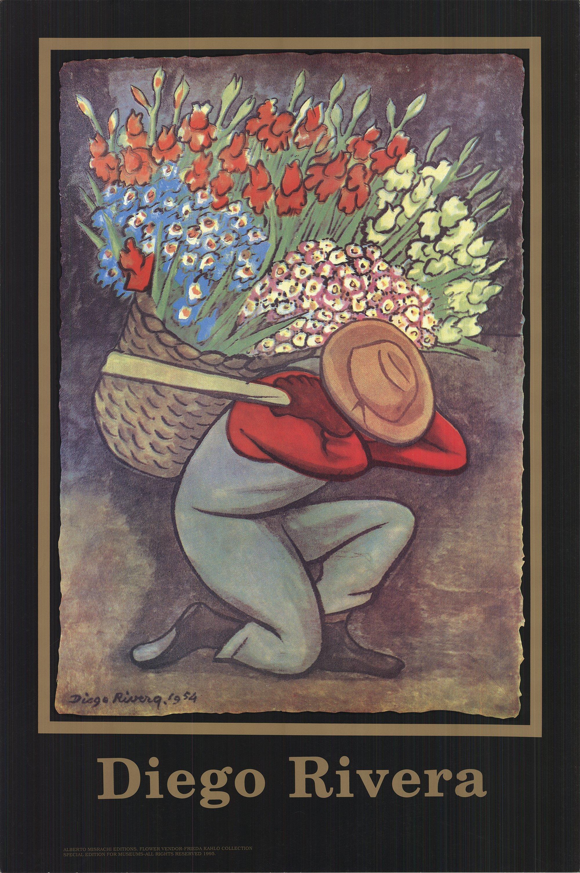 1995 After Diego Rivera 'El Vendedora De Flores' Modernism USA Offset Lithograph