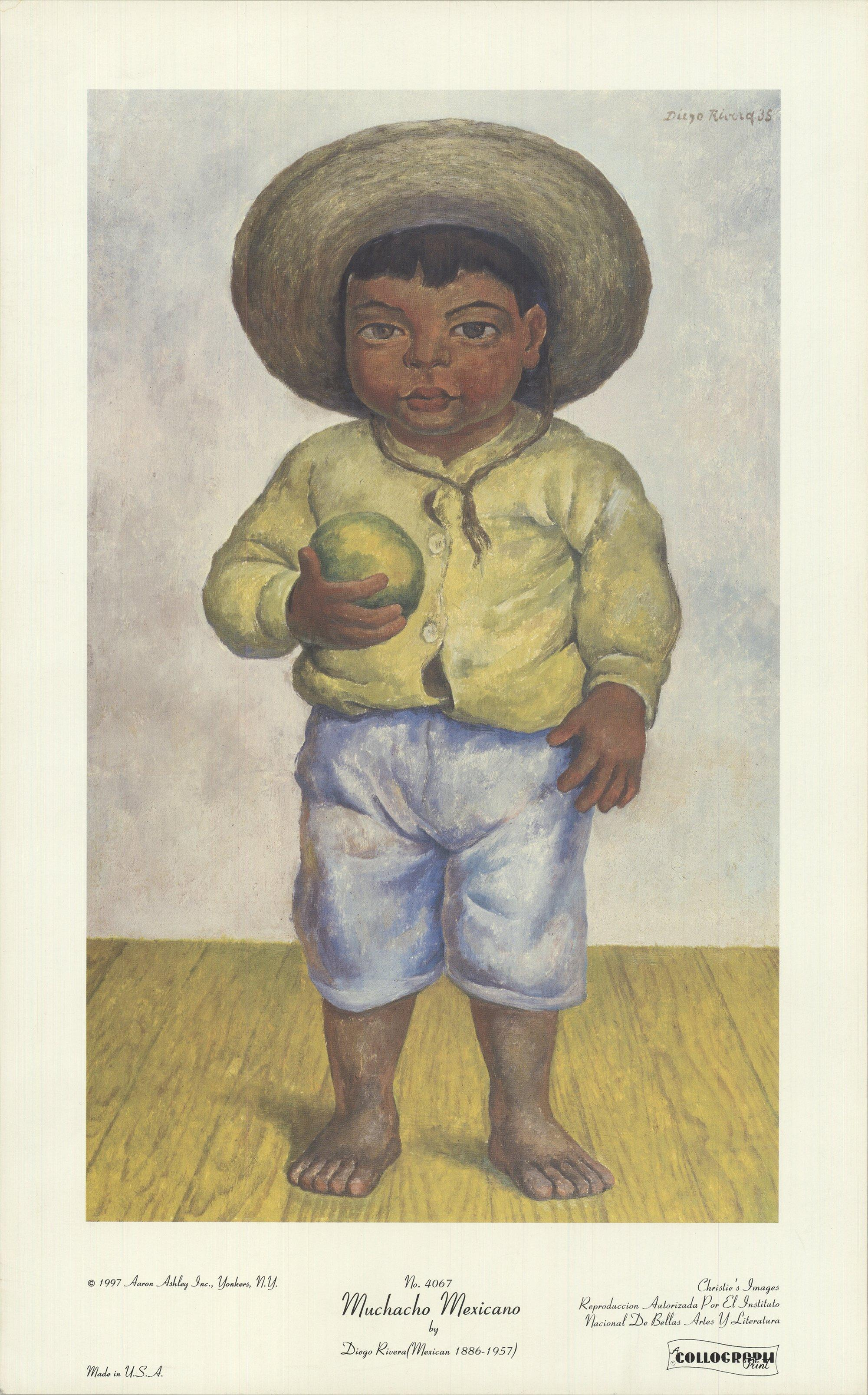 1997 After Diego Rivera 'Muchacho Mexicano' Modernism USA Offset Lithograph