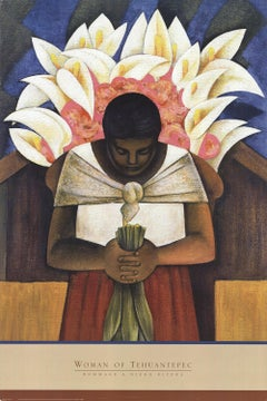 1998 After Diego Rivera 'Woman of Tehuantepec' Modernism Switzerland