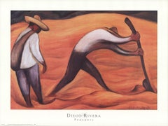 1999 After Diego Rivera 'Peasants' Modernism Switzerland Offset Lithograph