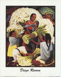 2000 After Diego Rivera 'The Flower Vendor' Modernism USA Offset Lithograph